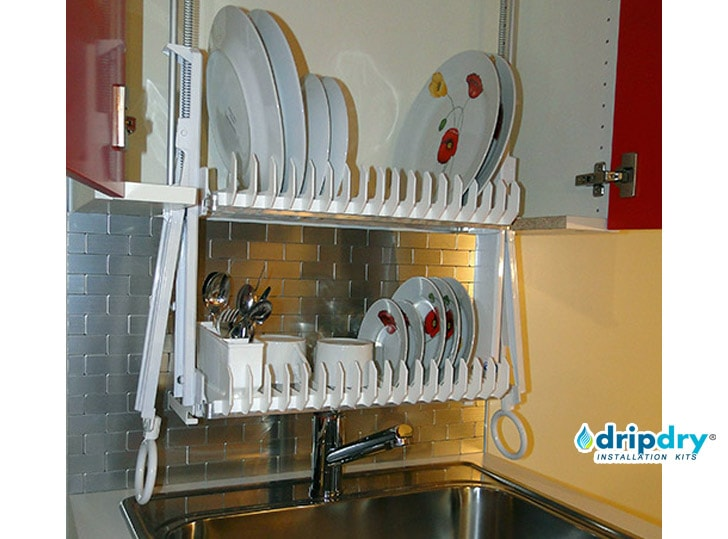 The DripDry Cabinet Dish Rack