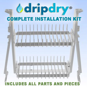 The DripDry Complete Installation Kit | Cabinet Dish Rack