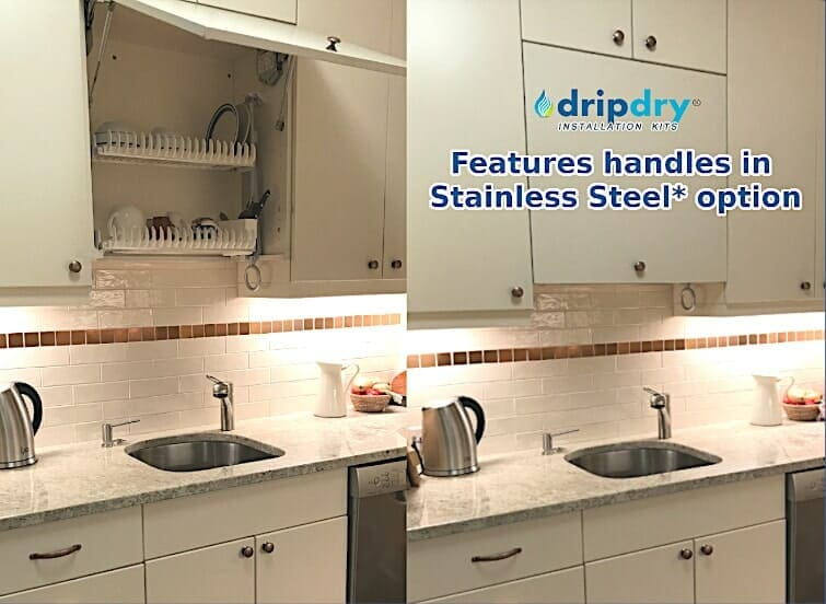 Modern Kitchen Design with the large size of DripDry dish rack