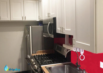 Small kitchen with the DripDry cabinet dish rack installation kit