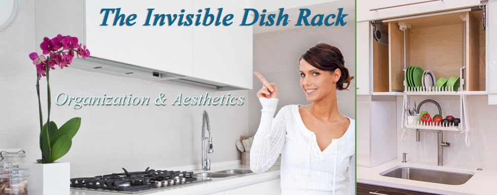 The DripDry | Invisible Kitchen Cabinet Dish Rack
