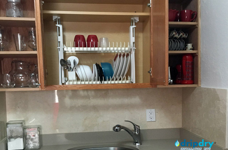 Kitchen Organization with the cabinet dish rack DripDry