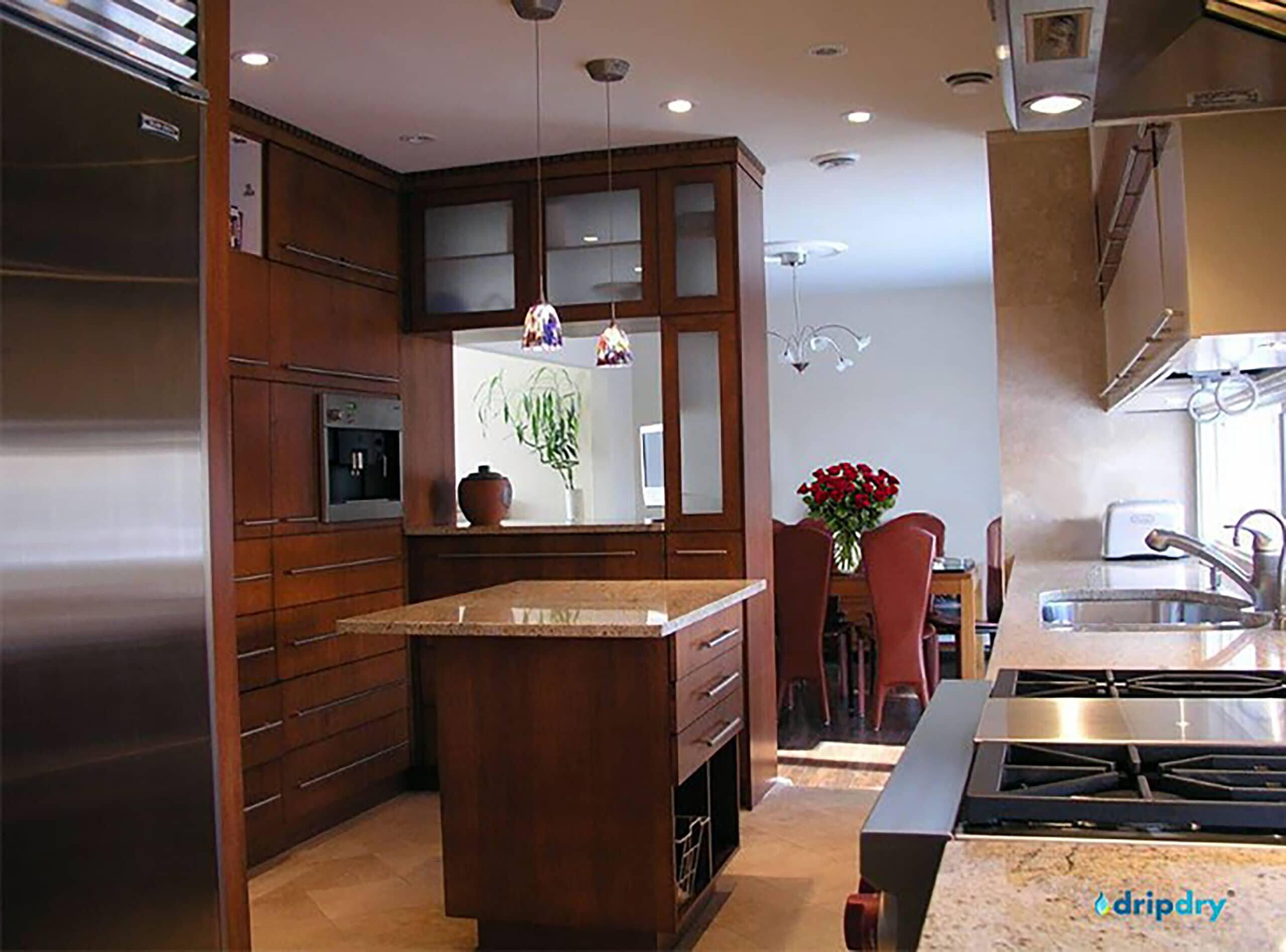 Semi Custom Cabinet dish rack Raised Above Sink