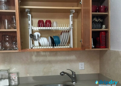 Kitchen organization using the DripDry Dish Drying Rack