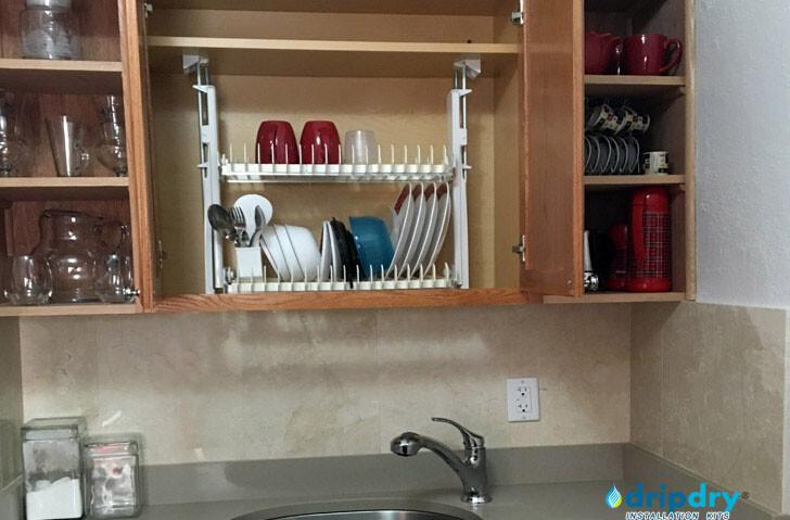 Kitchen organization using the DripDry Dish Drying Rack