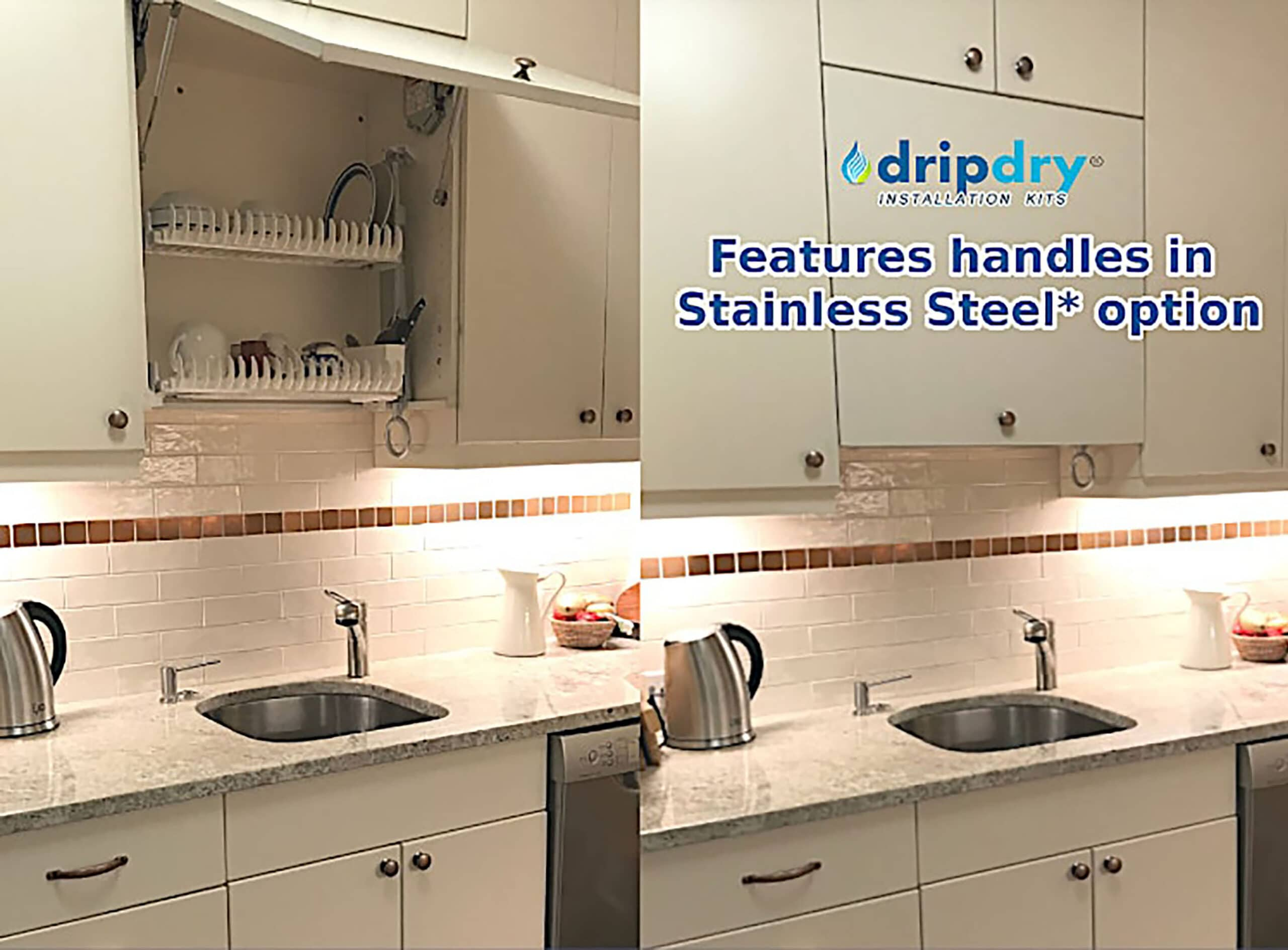 DripDry in Stainless Steel Option